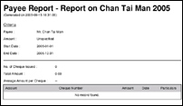Payee Report Sample